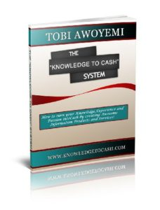 Knowledge to Cash Book by Tobi Awoyemi